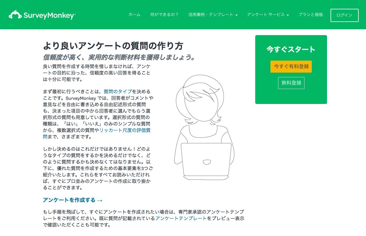 「より良いアンケートの質問の作り方」 by SurveyMonkey(サーベイモンキー)